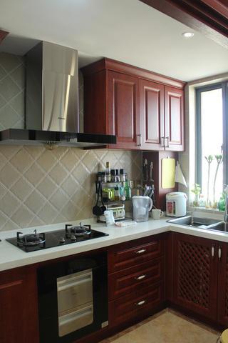 70㎡美式二居装修厨房设计图