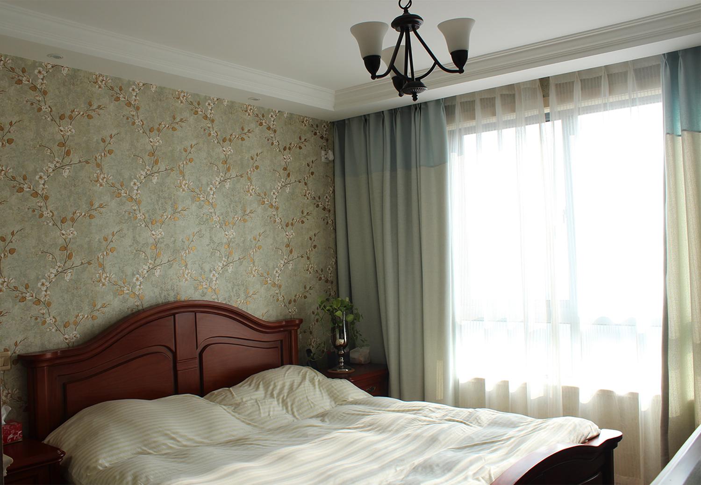 70㎡美式二居装修主卧效果图