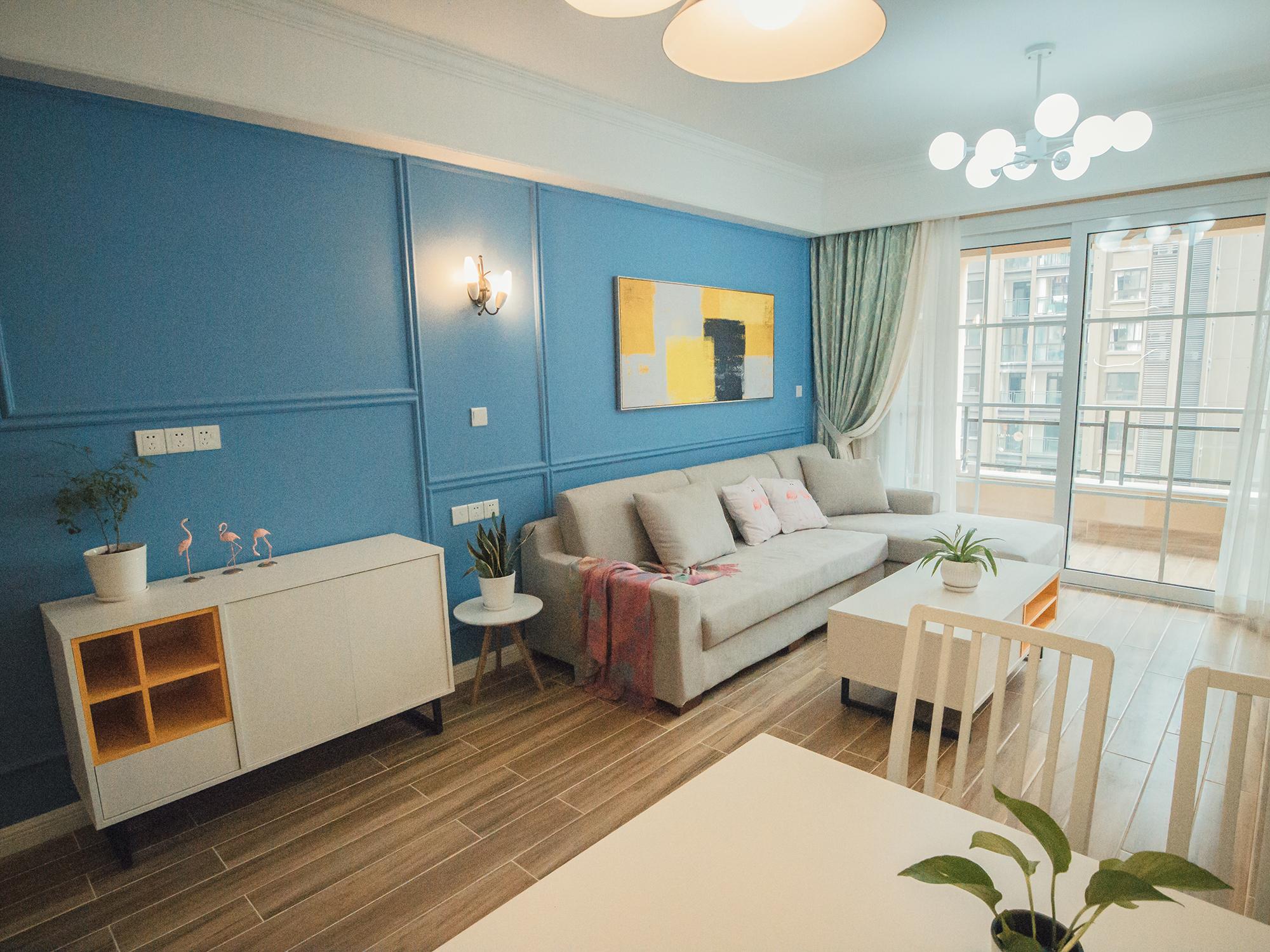 80㎡二居室装修客厅效果图