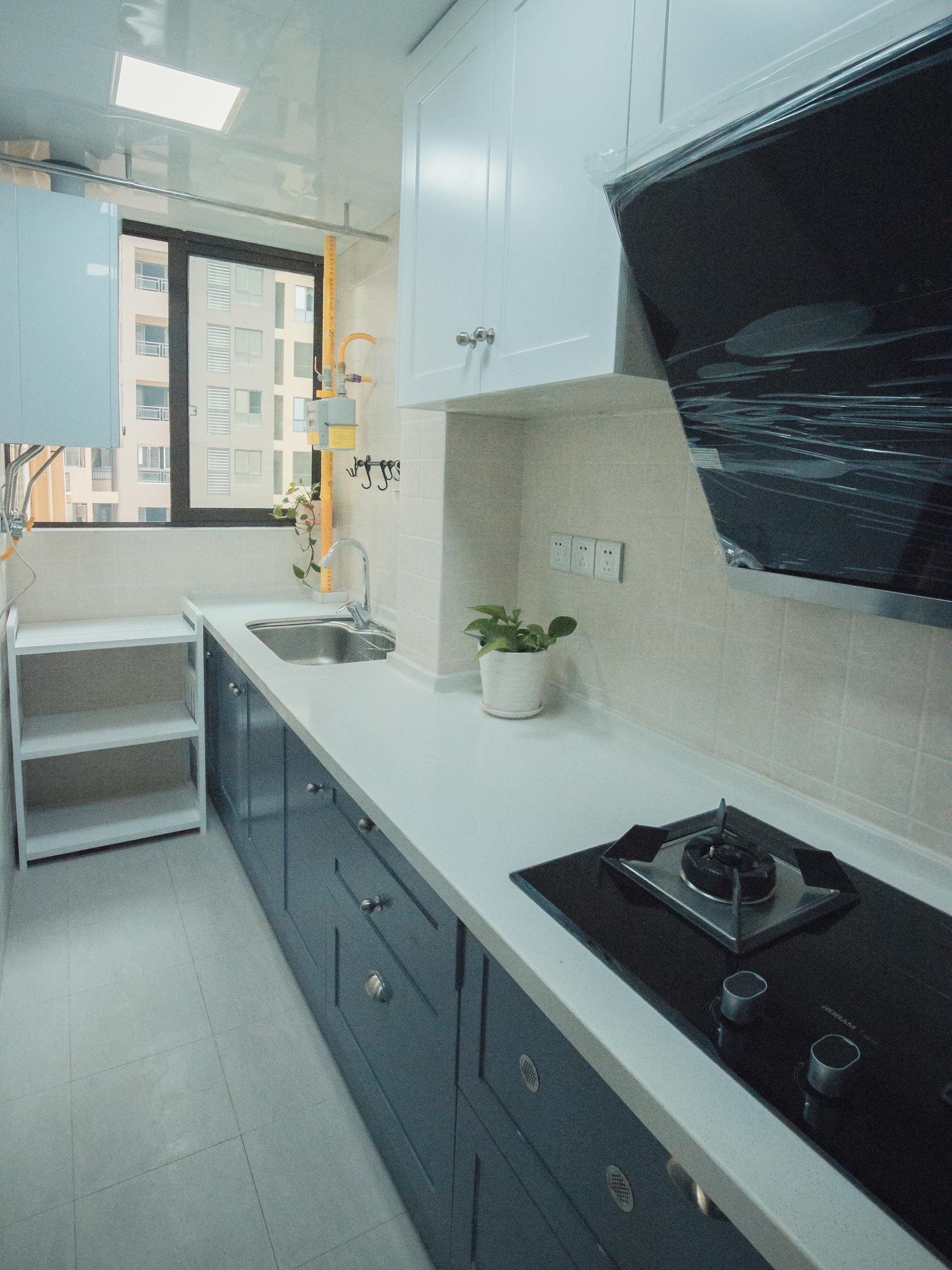 80㎡二居室装修厨房设计图