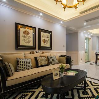 110平三居室设计 摩登美式家