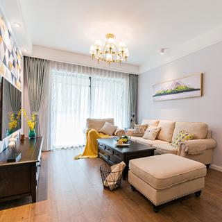 二居室现代美式家 趣味空间