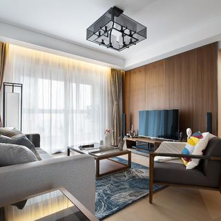 107平新中式三居装修效果图