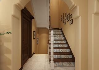 简约美式复式装修楼梯设计
