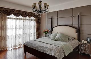 简约美式复式装修卧室实景图