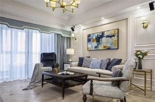 100㎡美式风格装修沙发图片