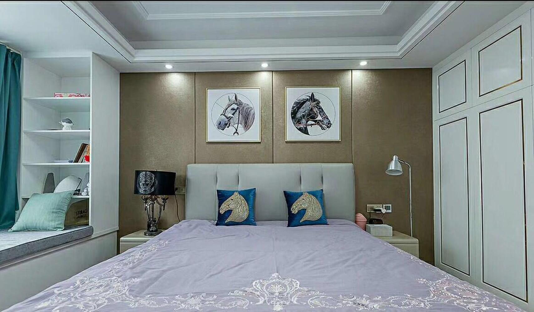 现代轻奢装修卧室效果图