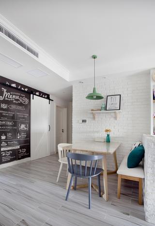 110平北欧风装修餐厅设计图