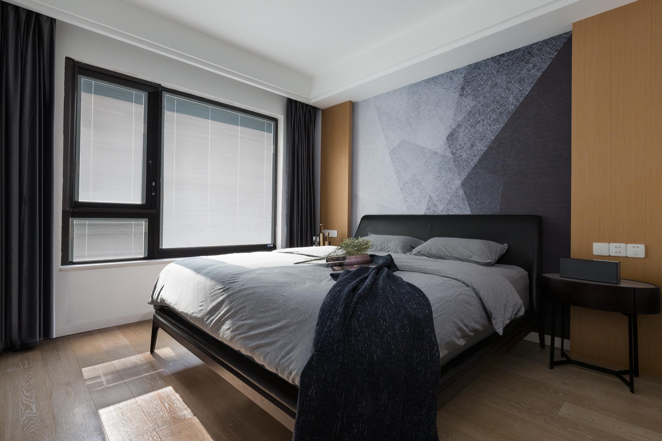 三居室现代风格空间主卧效果图