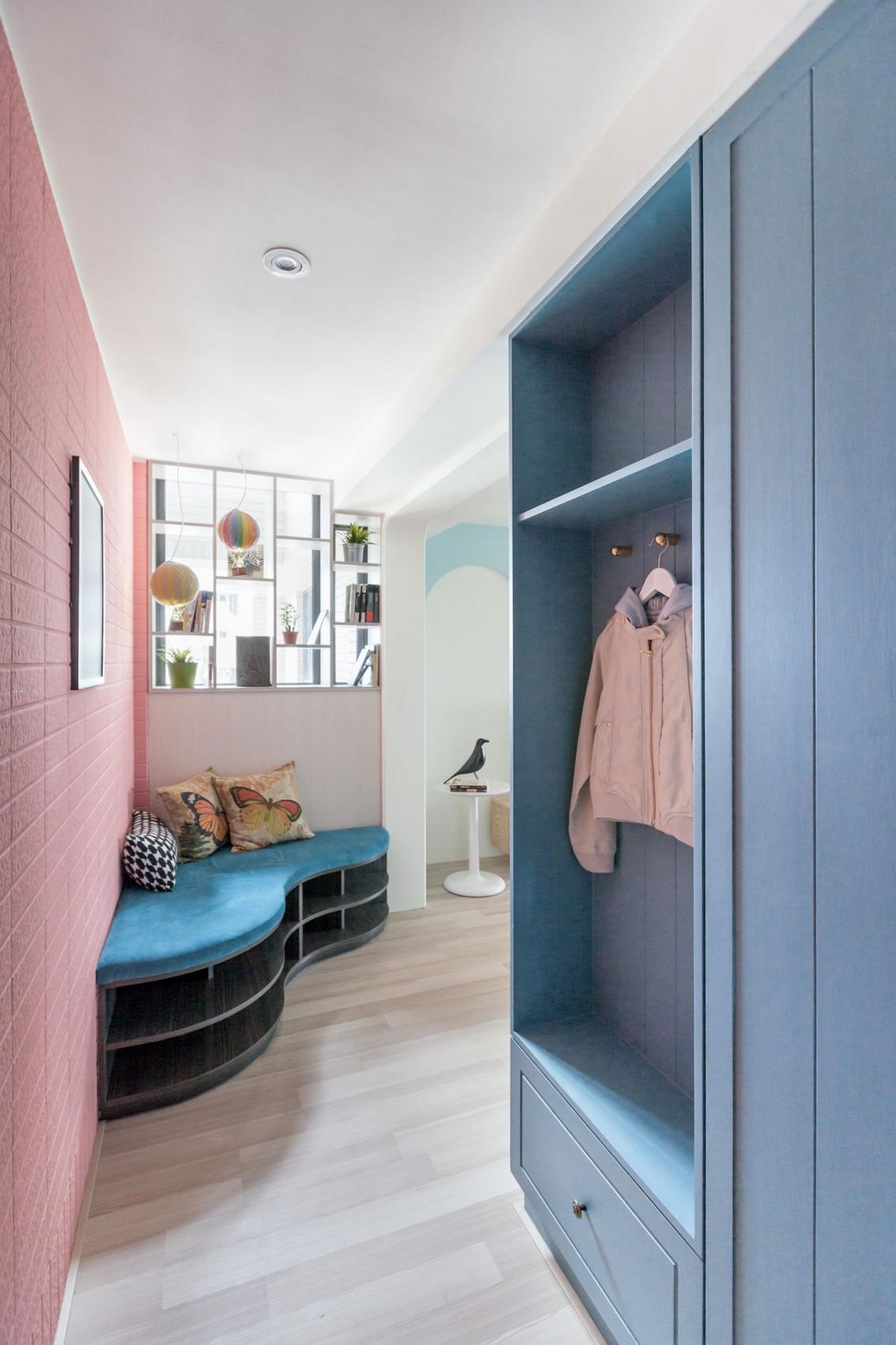 60平北欧风格家门厅设计图