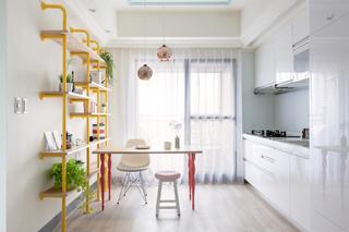 60平北欧风格家厨餐厅设计图