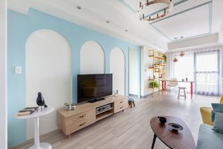 60平北欧风格家电视背景墙图片