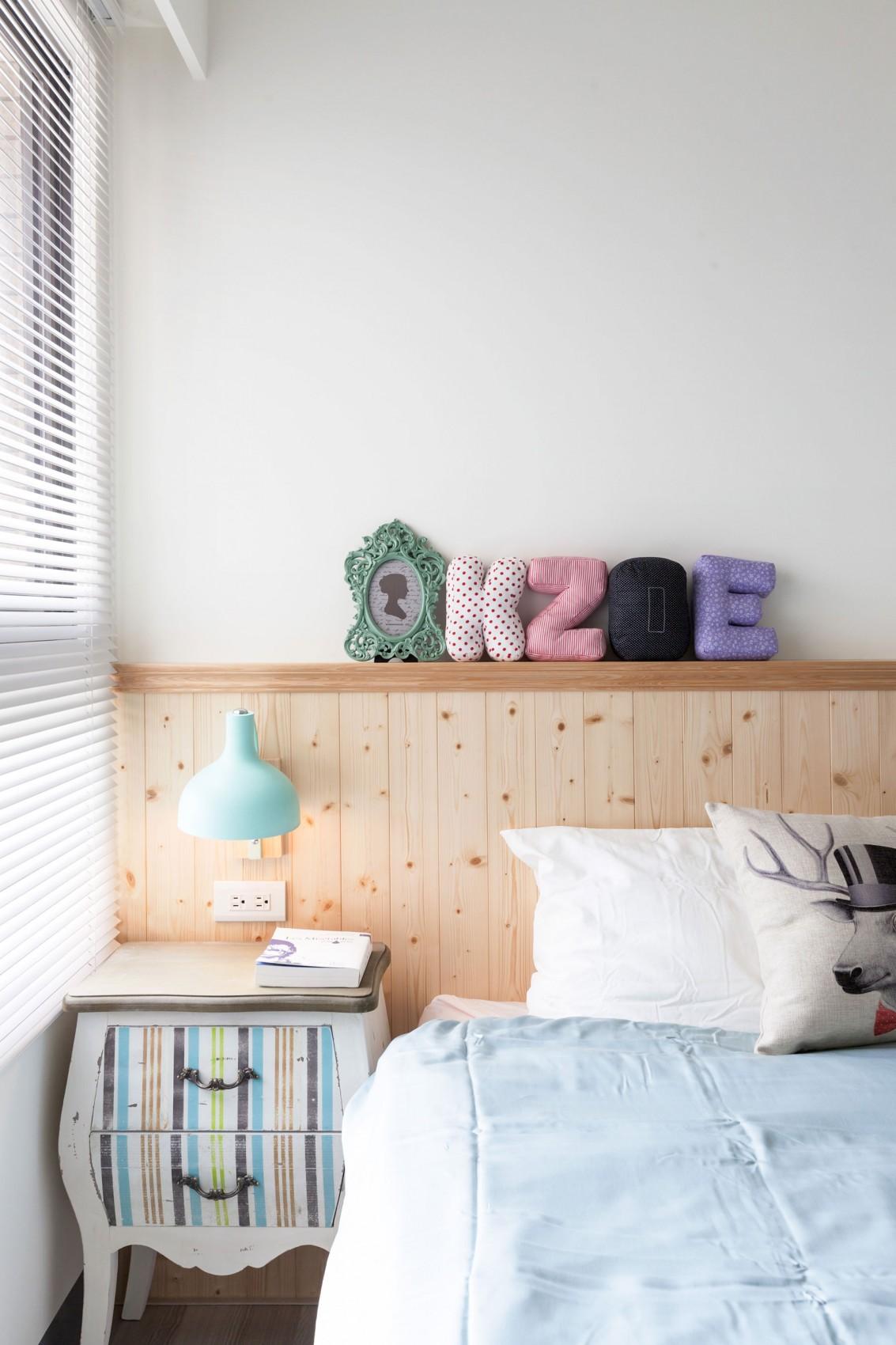 60平北欧风格家床头墙装饰图片
