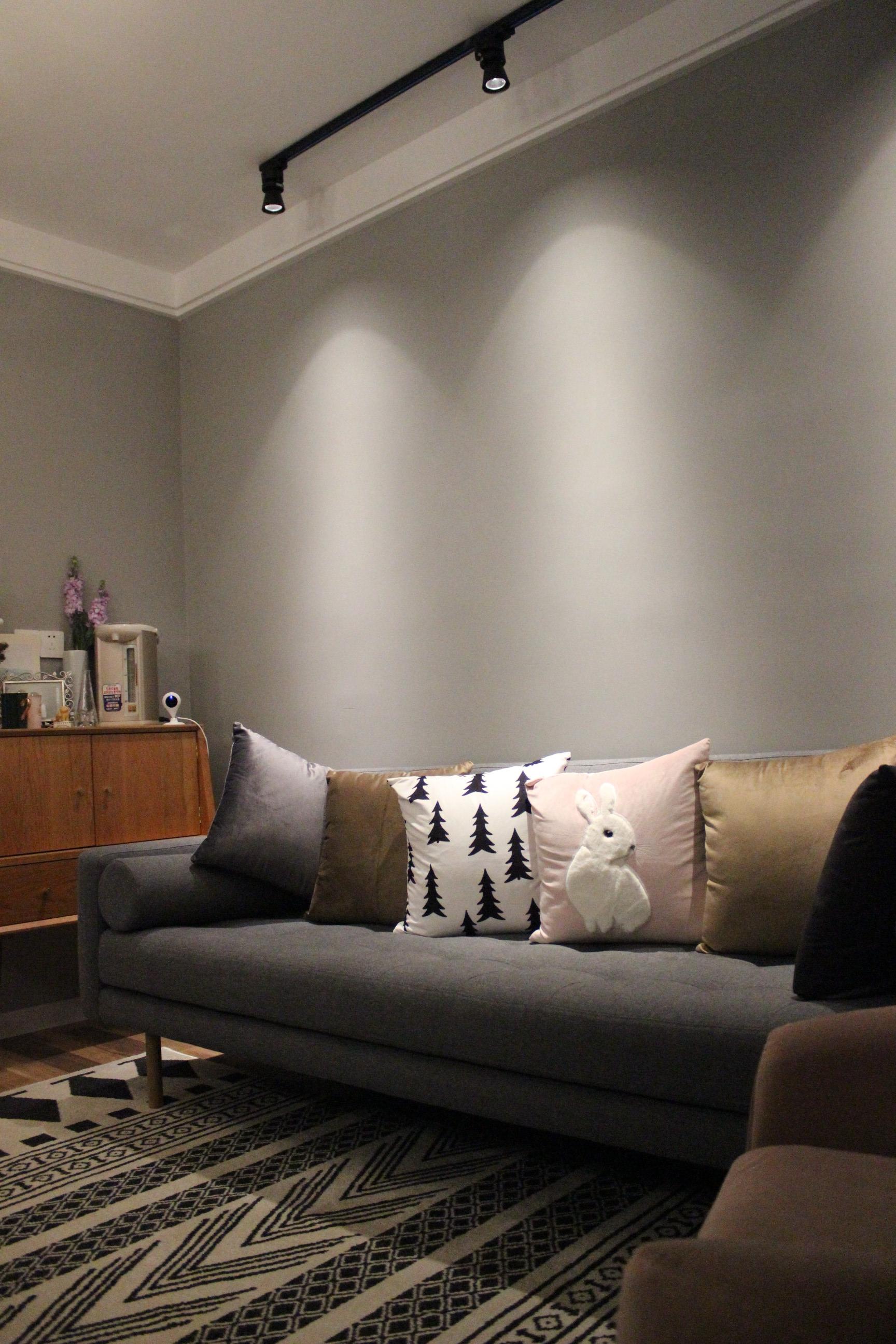 小户型二居室装修沙发背景墙图片