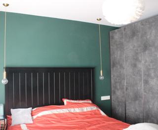 小户型二居室装修卧室床头背景墙
