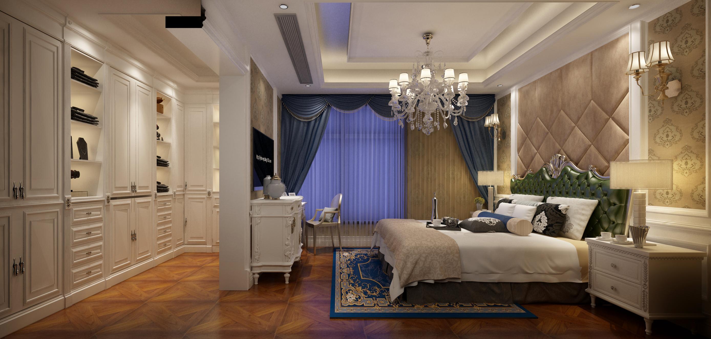 欧式风豪华型装修卧室效果图