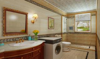 法式宫廷别墅装修卫生间设计图