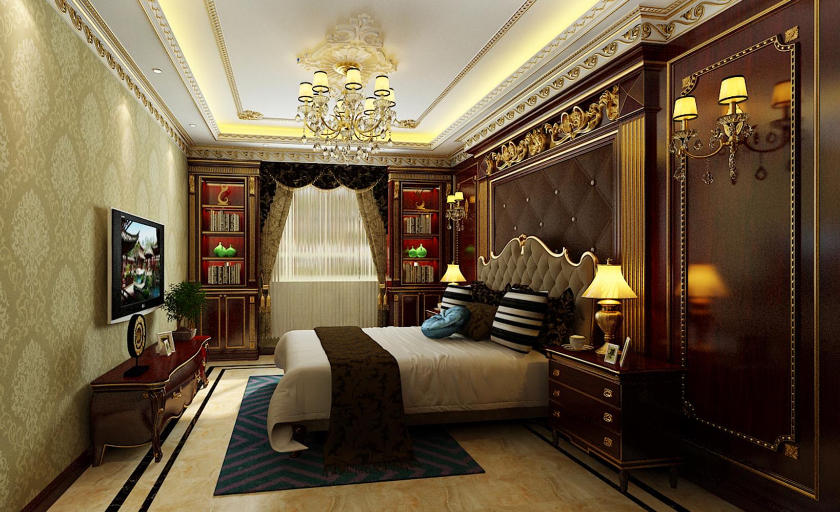 法式宫廷别墅装修卧室效果图