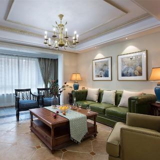 美式四居室装修设计 轻柔优雅