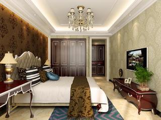 法式宫廷别墅装修卧室背景墙图片