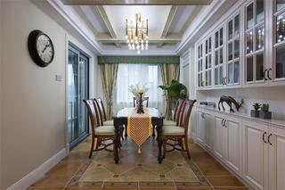 美式四居室装修餐厅效果图