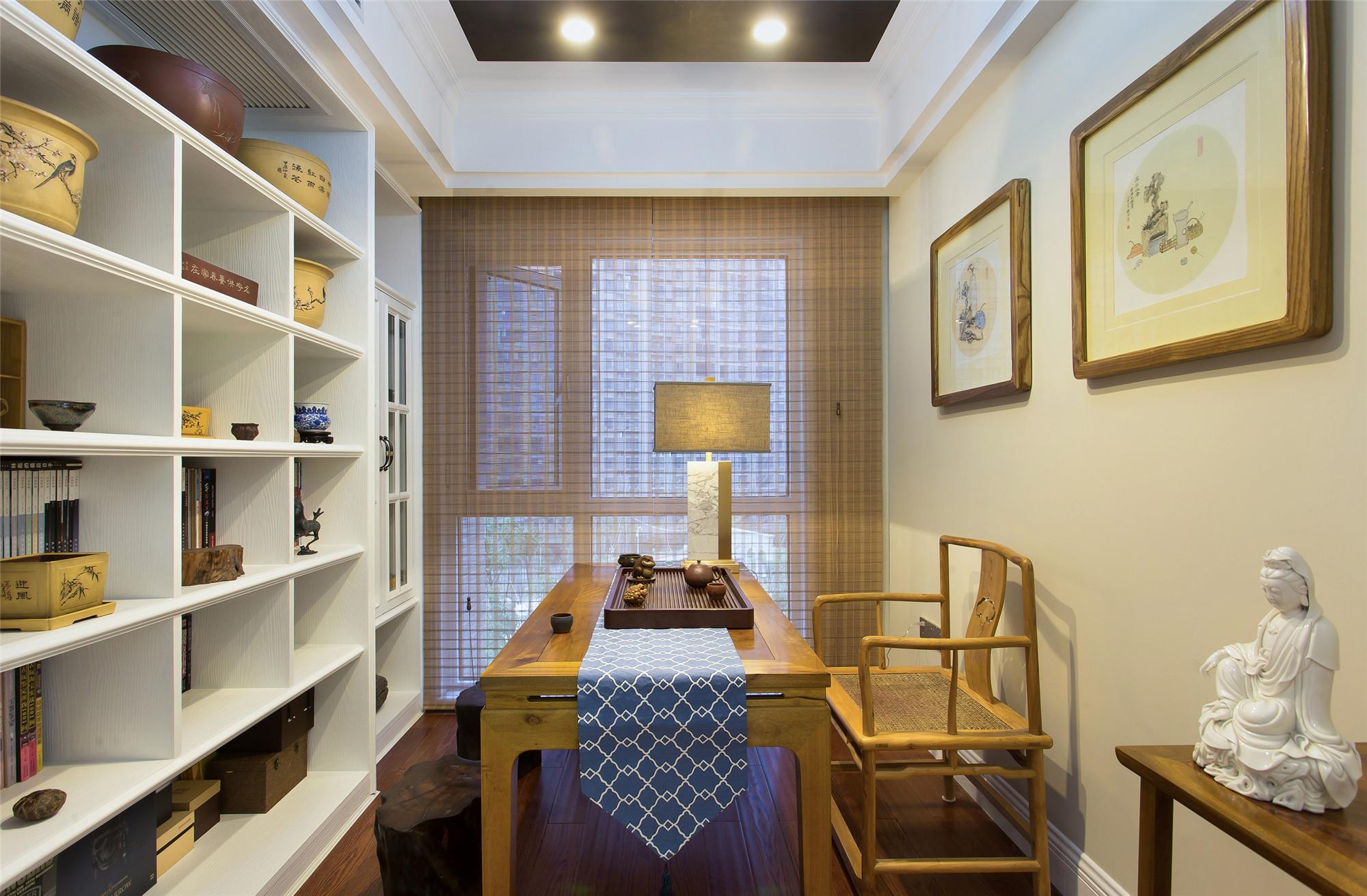 美式四居室装修置物架图片