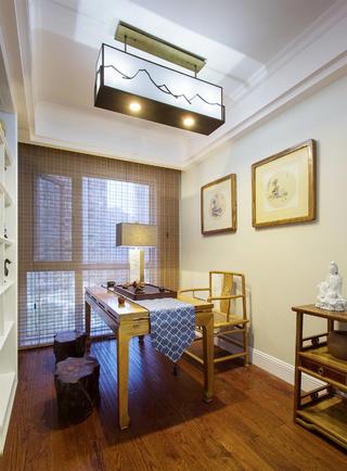 美式四居室装修茶室布置图
