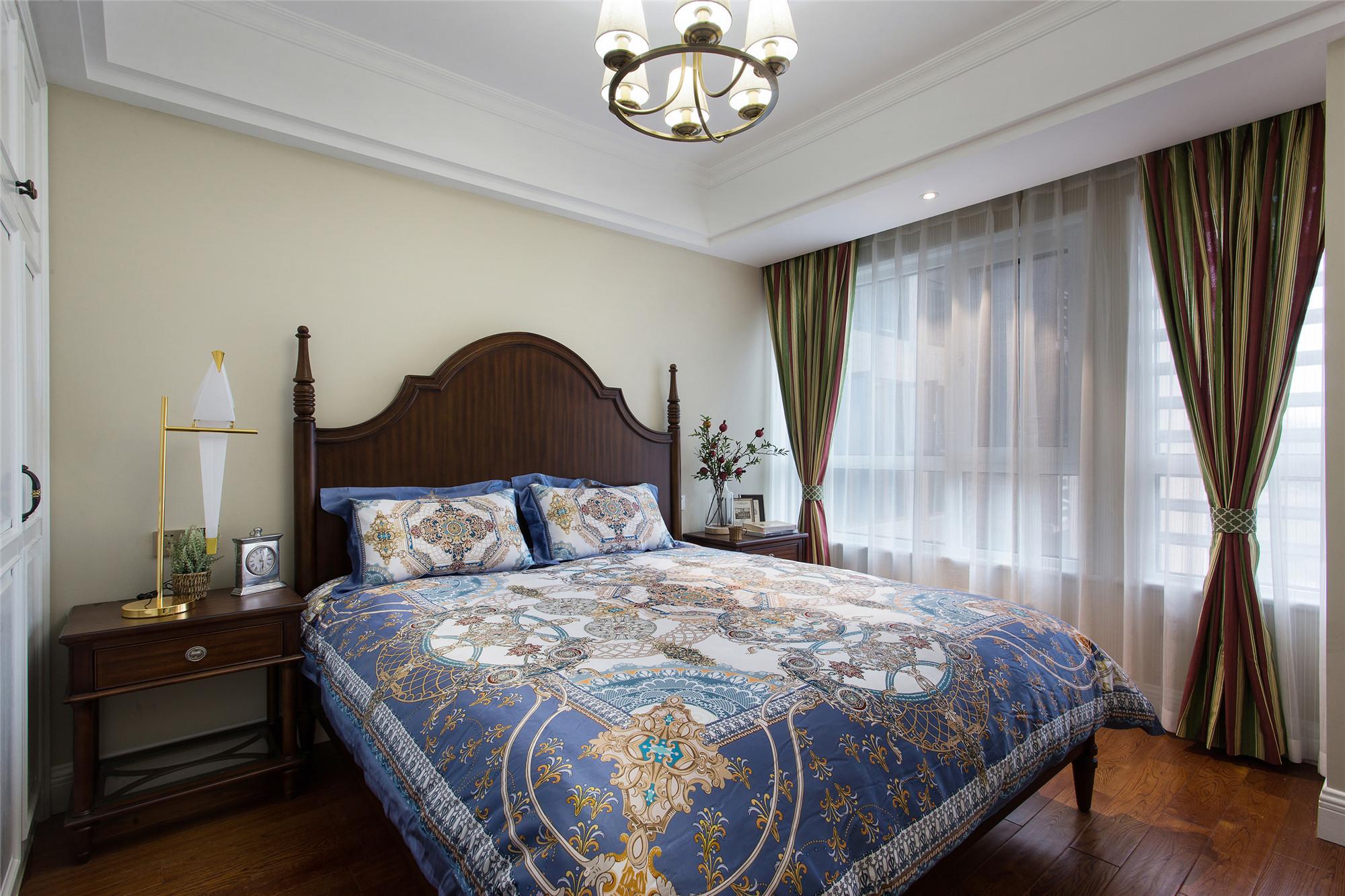 美式四居室装修客卧设计图