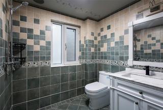 美式四居室装修卫生间装潢图