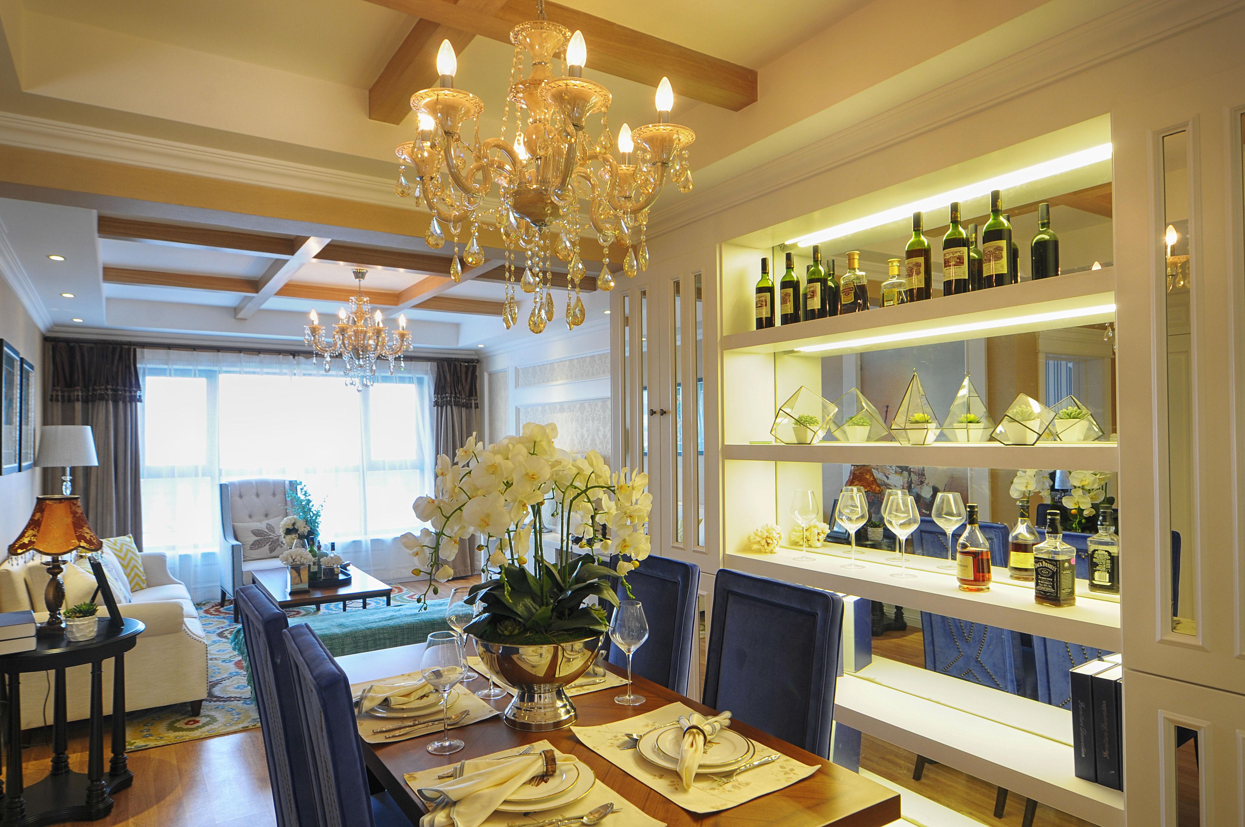 三居室混搭之家餐客厅效果图
