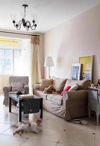 70平北欧风装修沙发背景墙图片