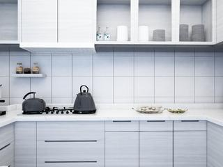 黑白灰简约空间装修厨房欣赏图