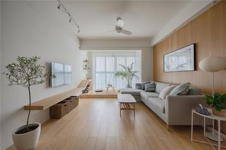 80平日式装修客厅效果图