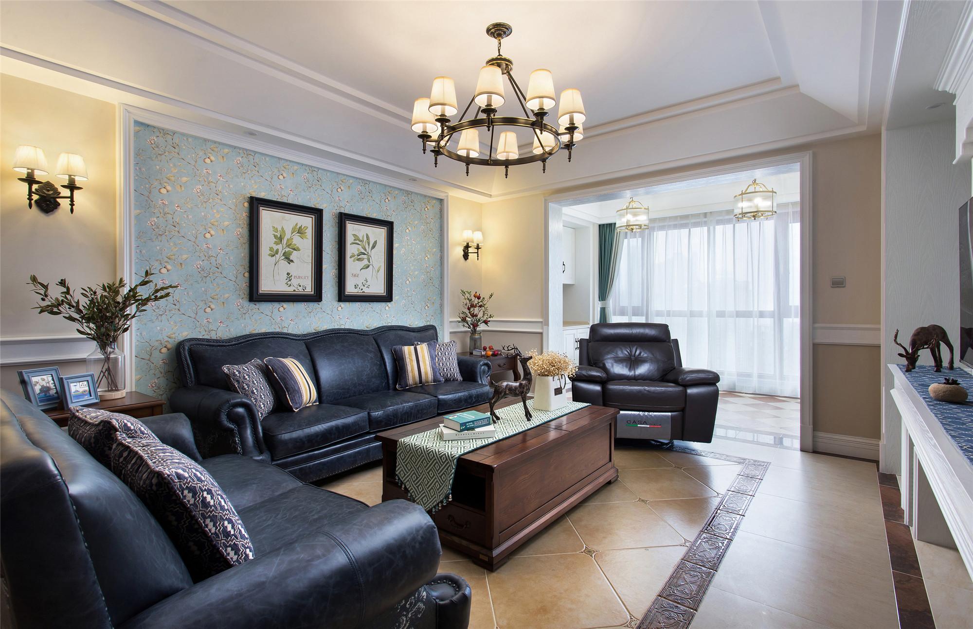 四居室美式风格家顶面造型设计
