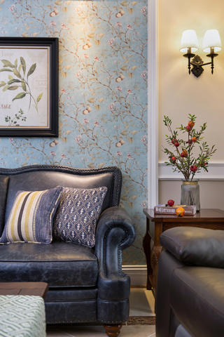 四居室美式风格家沙发一隅