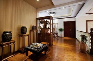 中式别墅装修茶室过道