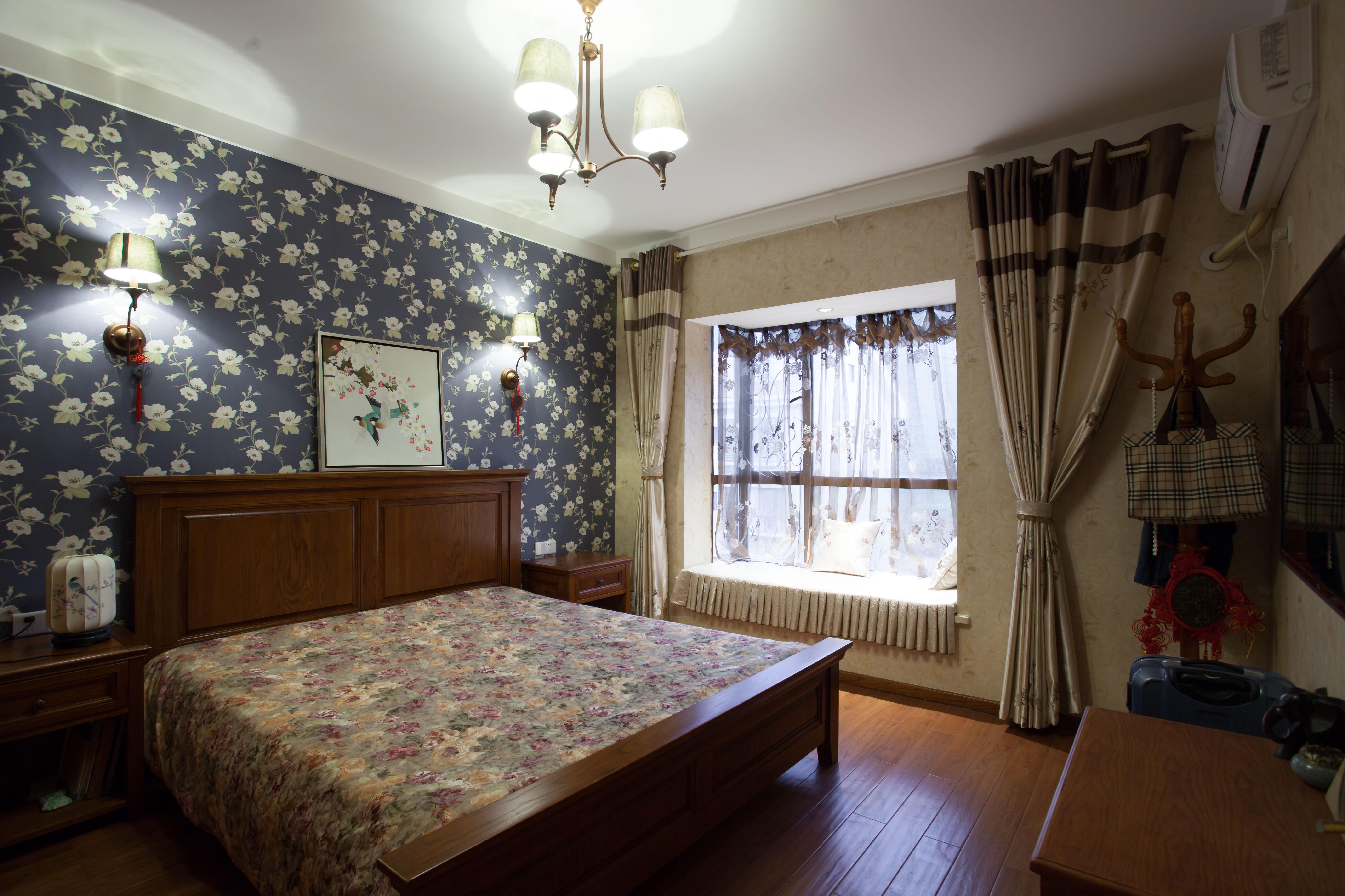 中式别墅装修卧室欣赏图