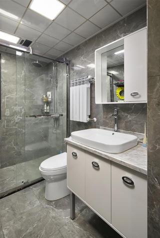 140㎡新中式装修卫生间效果图