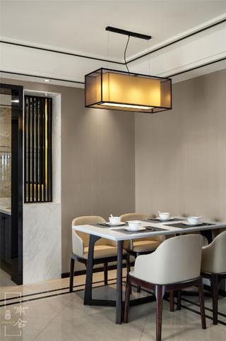 120平新中式装修餐厅效果图