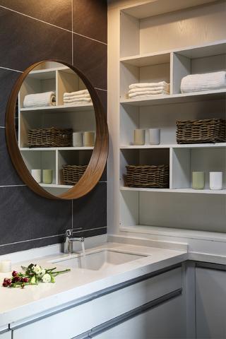 三居室北欧简约之家洗手台图片
