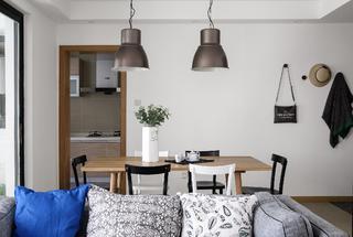 三居室北欧简约之家餐厅布置图