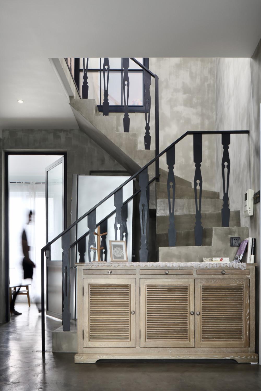 复式混搭装修楼梯图片