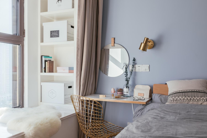 80㎡北欧风装修卧室梳妆台图片