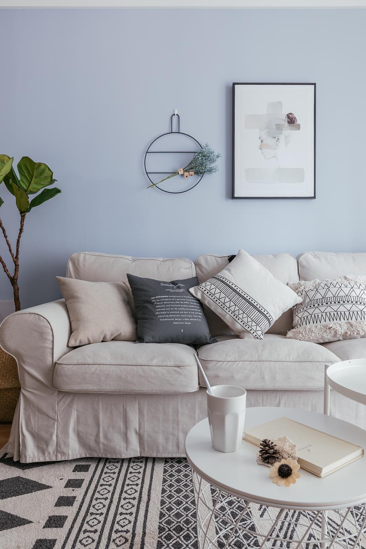 80㎡北欧风装修沙发背景墙图片