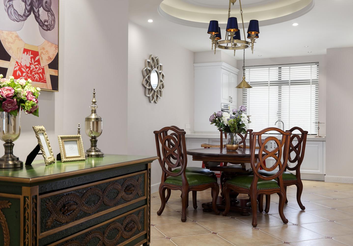 四居室现代美式空间餐厅效果图