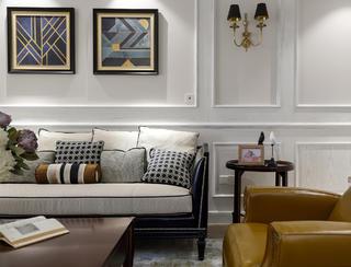 四居室现代美式空间沙发一隅