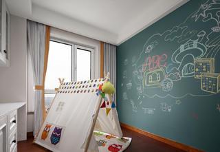 四居室现代美式空间儿童房娱乐区