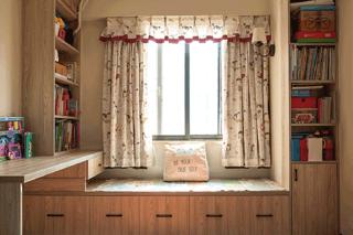 124平北欧风之家儿童房书柜设计