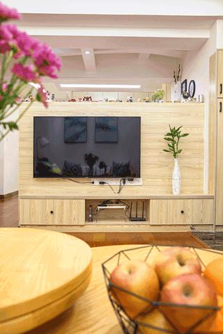 124平北欧风之家电视背景墙图片