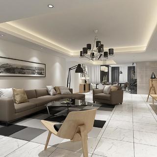 现代简约三居室装修 洁净流利